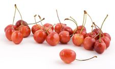 Free Cherries On White Background Royalty Free Stock Image - 5674076