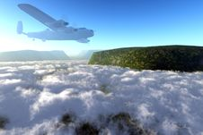 Free Flight Over The Tops Royalty Free Stock Images - 5674109