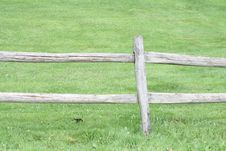 Free Wooden Fence In Green Field Stock Images - 5674374