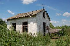 Abandoned Farm. Near Chernobyl Area.  Kiev Region Stock Photo