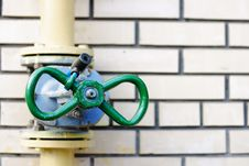 Wall And  Pipes. Royalty Free Stock Photo
