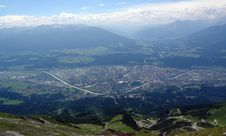 Free Sight To The Innsbruck From Peak Of Hafelkar . Stock Photography - 5675292