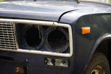 Free Closeup Of Broken Car Headlight Royalty Free Stock Photo - 5675425