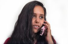 Free Young Girl With Mobile Phone Stock Photo - 5675530