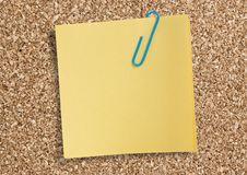 Yellow Remainder Note. Stock Image