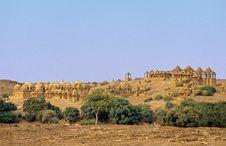 Jaisalmer Cenotaphs Royalty Free Stock Images