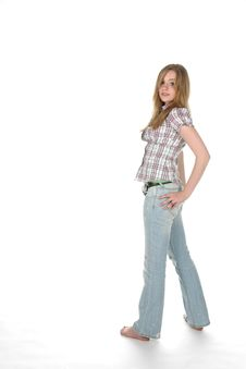 Free Young Woman Standing With Hand On Hip Royalty Free Stock Photography - 5677467