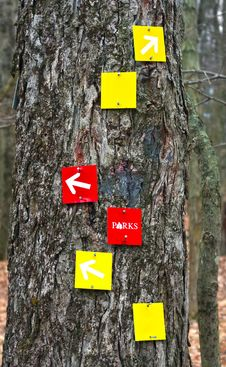 Free Trail Markers Stock Photo - 5677580
