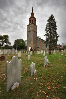 Free Historic Church And Graveyard Stock Photo - 5677600