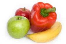 Fruits And Paprika Stock Images