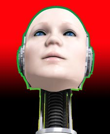 Free A Cyborg Head 2 Royalty Free Stock Photo - 5677875