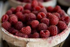 Free Ripe Red Raspberries Royalty Free Stock Photos - 5677908