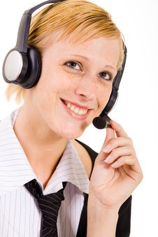 Free Woman From A Helpdesk Royalty Free Stock Photo - 5678085