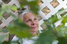 Free Senior Woman In Garden Royalty Free Stock Photography - 5678377