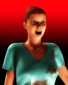 Free A Vampire Nurse In Scrubs Stock Photos - 5678453