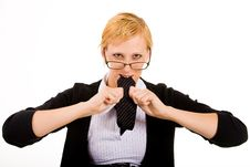 Free Eating My Necktie Out Of Frustration Royalty Free Stock Photography - 5678457
