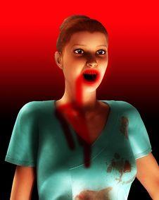 Free A Vampire Nurse In Scrubs 2 Stock Image - 5678461