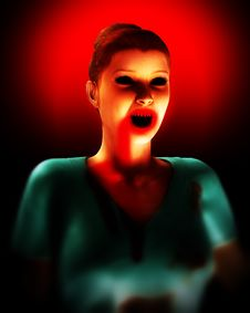 Free A Vampire Nurse In Scrubs 3 Royalty Free Stock Images - 5678469