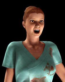 Free A Vampire Nurse In Scrubs Royalty Free Stock Image - 5678486