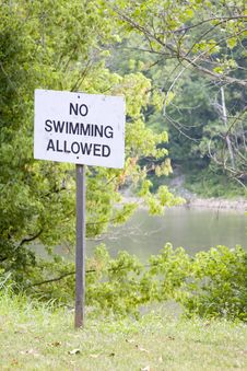 Free No Swimming Sign Royalty Free Stock Images - 5678529