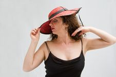 Free Woman With Hat Stock Images - 5678534