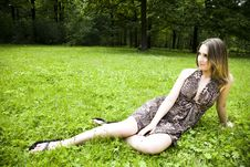 Free Woman Relaxing In The Park Stock Photo - 5678950