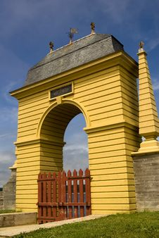 Free Gates Of Louisburg Stock Image - 5679041