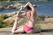 Free Yoga On The Rocks Royalty Free Stock Photos - 5679138