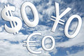 Free Sky Money Symbols - Version 2 Royalty Free Stock Photos - 5686058