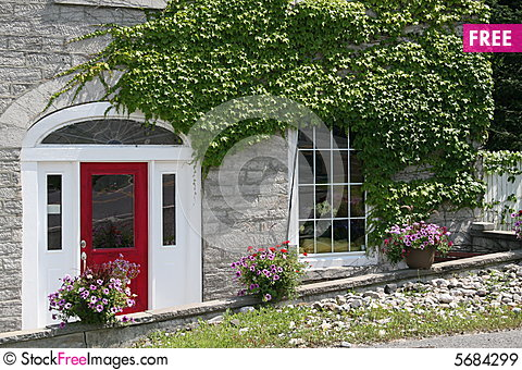 Red Door House red door on modernized stone house - free stock photos & images