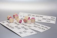 Free Lotto Bingo Card For Fun Stock Photography - 5680212