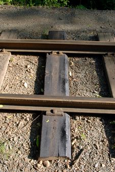 Free Rails On The Bank Royalty Free Stock Photos - 5680248