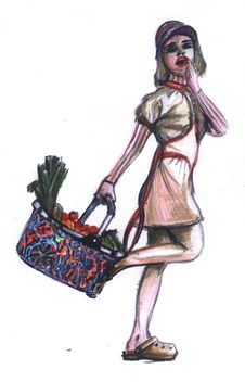 Free Woman With Handbasket Royalty Free Stock Photos - 5680888