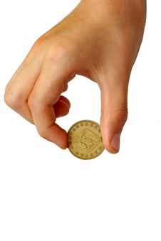 Free Coin In Hand Royalty Free Stock Image - 5681106