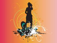 Free Female Silhouette Royalty Free Stock Photo - 5681495