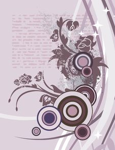 Free Modern Floral Background Stock Image - 5681521