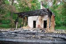 Burned Down House 1 Stock Photography