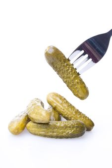 Free Pickled Gherkins Royalty Free Stock Image - 5681896