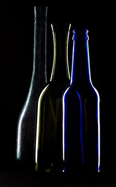 Free Silhouettes Of Bottles Of Wine Stock Image - 5681971