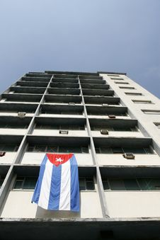 Free Cuba Flag In A Building Stock Images - 5682084