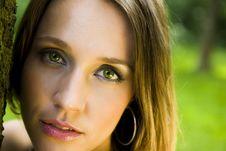 Free Green Eyes Portrait Royalty Free Stock Image - 5682196