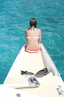 Free Girl On Boat Royalty Free Stock Images - 5682339