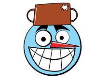 Smiley Icon Snowman Stock Photography