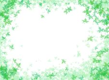 A FRAME OF GREEN LEAVES Royalty Free Stock Photos