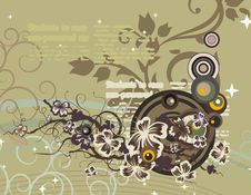 Free Modern Floral Background Royalty Free Stock Image - 5683036