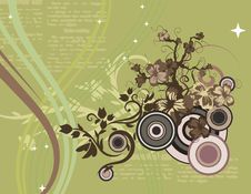 Free Modern Floral Background Royalty Free Stock Photo - 5683105