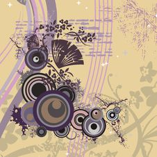 Free Modern Floral Background Royalty Free Stock Image - 5683116