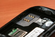 Free Cell Phone SIM Card Slot Stock Images - 5683424