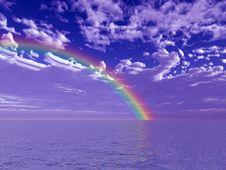 Free Beautiful Rainbow Stock Image - 5684051