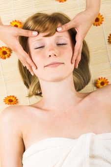 Free Woman Getting A Massage Stock Images - 5684294